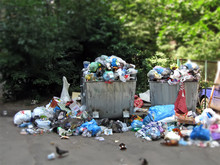Household Garbage Heap Make Pollution Of Flora, Earth Planet