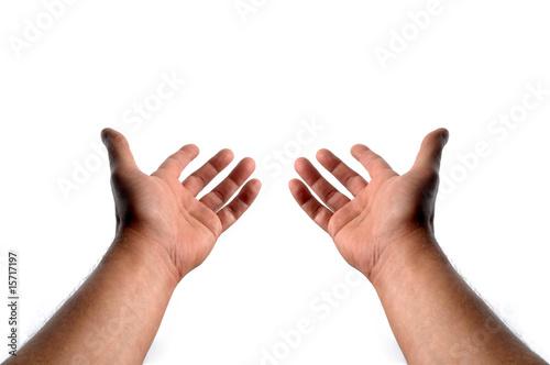 Fotografía  les deux paumes en l'air