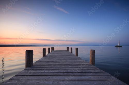 Foto op Aluminium Meer / Vijver segle davon