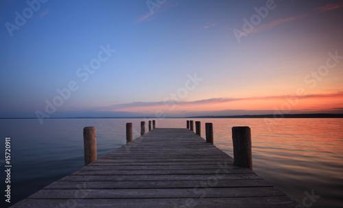 Foto-Leinwand - Blick auf den See
