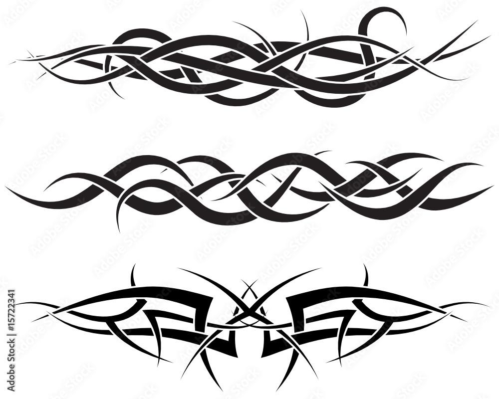 Fototapeta tribal tattoos set