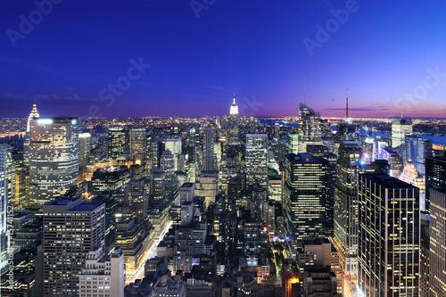 Poster New York Manhattan at sunset