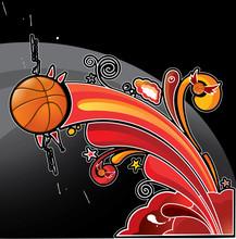 Rainbow Basketball Ball