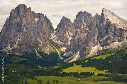 Fotografie, Obraz  Alpy, Dolomity hory