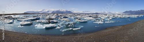 Foto auf AluDibond Skandinavien Iceberg Filled Lagoon, Jokulsarlon, Iceland
