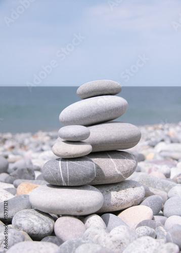 Doppelrollo mit Motiv - Balance