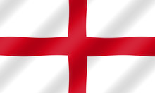 English St. George Flag Blowin...