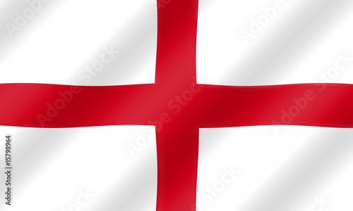 Obraz na plátně English St. George flag blowing in the wind  illustration.