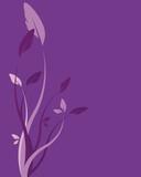 Fleurs fond violet