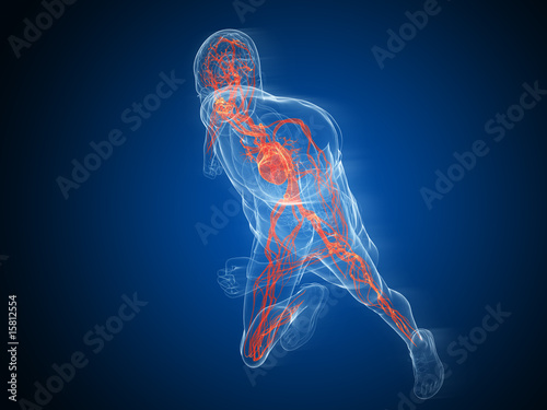 Vászonkép  rennender transparenter mann