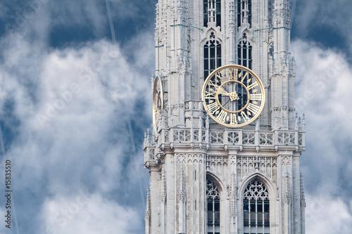 Foto op Plexiglas Antwerpen Clock tower