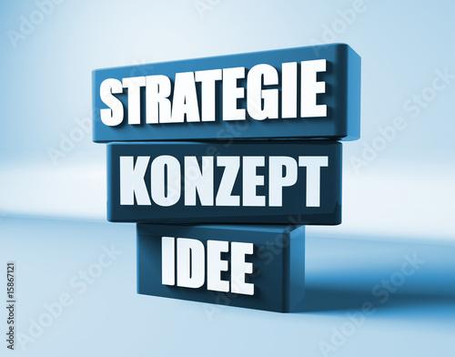Fotografie, Obraz  Business Idee, Strategie, Konzept