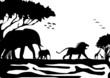 Afrika mit Tieren