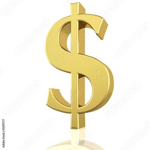 Fotografia, Obraz  Golden Dollar Sign