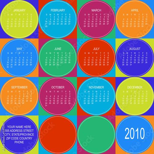 Fényképezés  2010  Circle Colorful Calendar