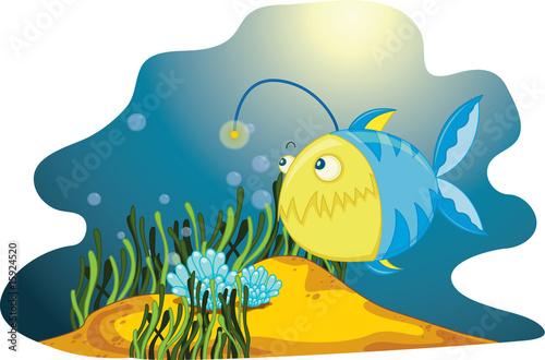 Foto op Plexiglas Onderzeeer Lone Anglerfish