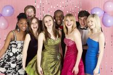Group Of Teenage Friends Dress...