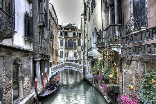 Papiers peints Venice Gondel, Palazzi und Bruecke, Venedig, Italien