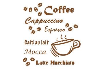 Fototapeta Kaffeespruch