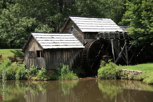Aluminium Prints Mills Blue Ridge Parkway - Mabry Mill