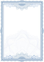 Classic Guilloche Border For Diploma Or Certificate / Vector