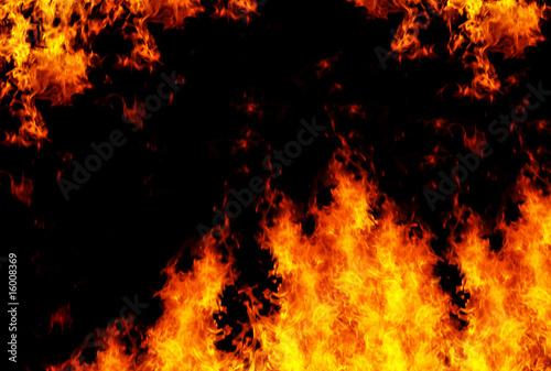 Valokuva  Flames background, XXL sized