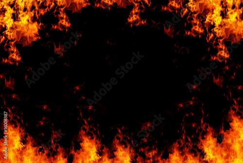 Obraz na plátne Flames frame background, XXL sized