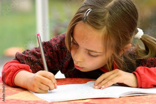 Fotografie, Obraz très appliquée dans ses devoirs