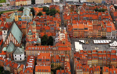 Panel Szklany Warszawa Old Town in Warsaw