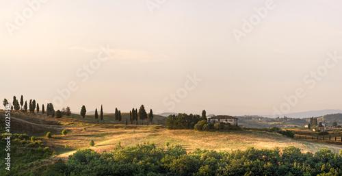 Deurstickers Toscane Landhaus