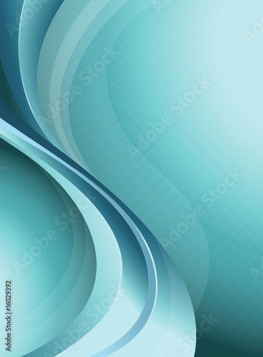 Blue Curve Background
