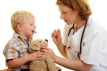 Stofftier Beim Kinderarzt