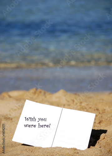 Wish you were here! Canvas Print