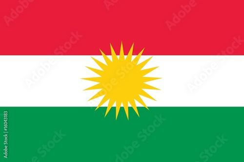 Fotografie, Obraz  Kurdistan Flag