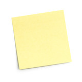 blank sticky note on white