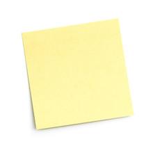 Blank Sticky Note On White