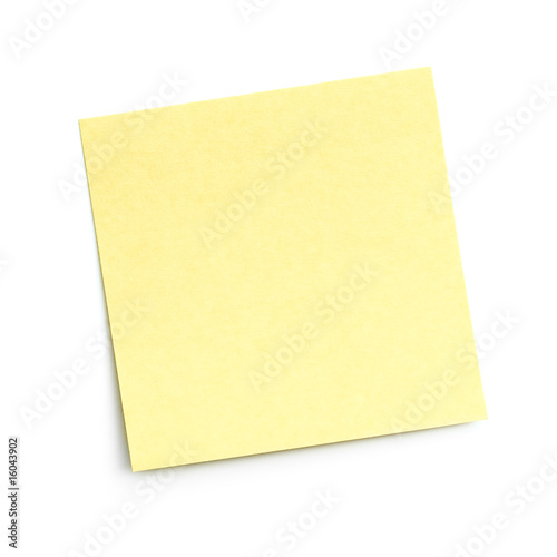 Fotomural  blank sticky note on white