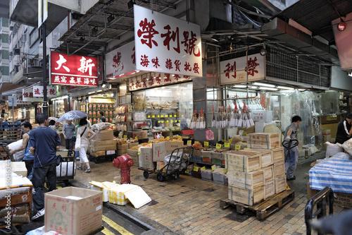 Tuinposter China Hong Kongs Märkte