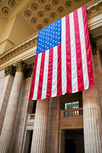 US Flag In Union Station Chicago