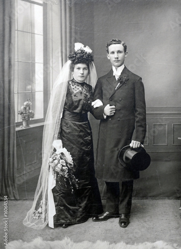 Brautpaar 1912 - bridal couple 1912