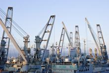 Cranes In Dockside