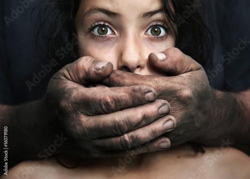Obraz na plátně Domestic violence - conceptual image