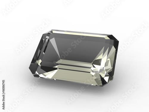Fotografia, Obraz  Emerald cut diamond zirconium
