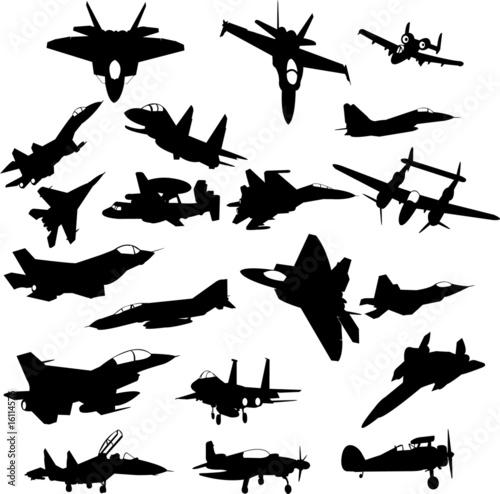 Photo  military plane - vector