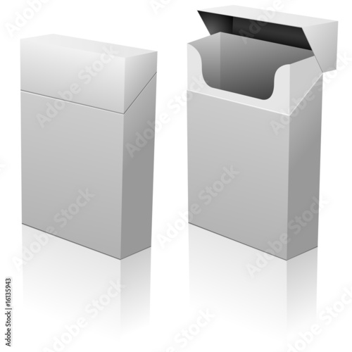 closed and opened empty blank cigarettes pack template buy this