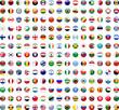 Leinwanddruck Bild - Flags of the World buttons (x195)