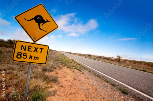 Foto op Canvas Australië Outback Kangaroo Sign