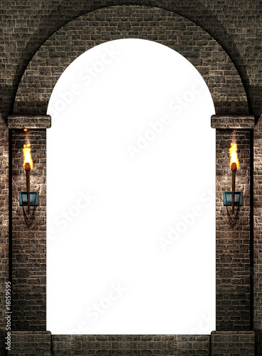 Photo  Arch with torches