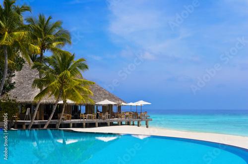 Fototapeta plaża plaza-na-malediwach