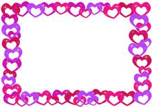 Cartoon Hearts Frame